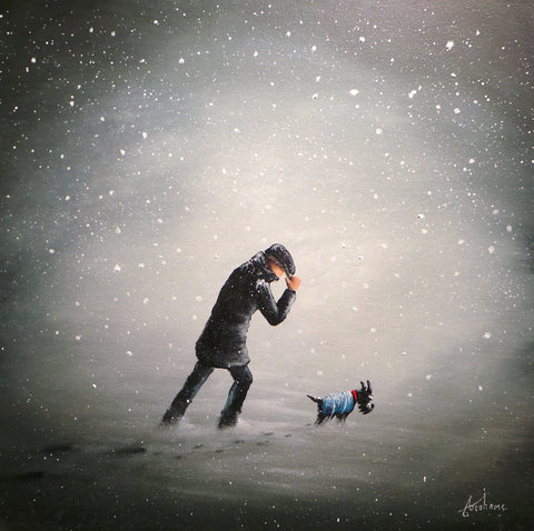 Cold Hands And Cold Paws Original by Danny Abrahams *SOLD*