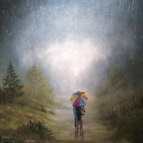 I Will Always Love You Come Rain Or Shine Original by Danny Abrahams *SOLD*