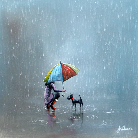 Keeping Dry Together Original by Danny Abrahams *SOLD*