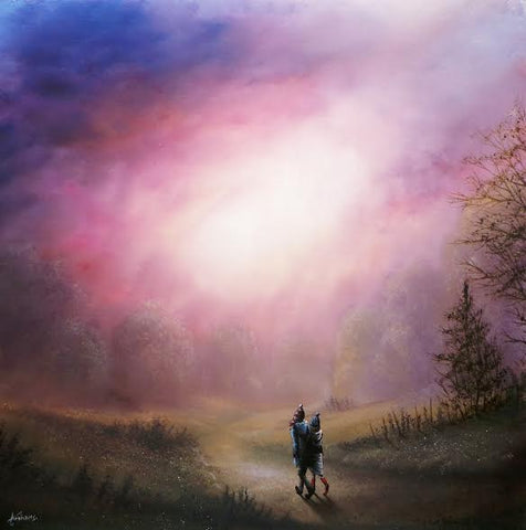 Leaving The World Behind Original on Glass by Danny Abrahams *SOLD*