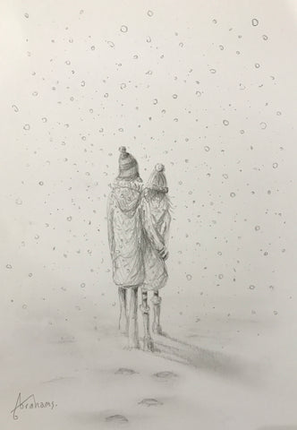 Love In The Snow (Study) Original by Danny Abrahams *SOLD*