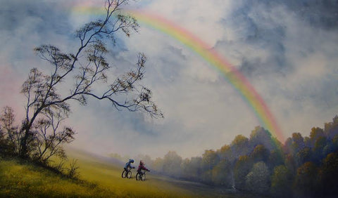 Oh Look A Rainbow Original by Danny Abrahams *SOLD*