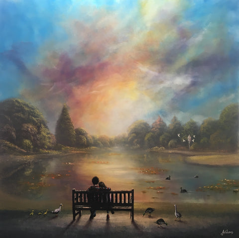 Burnby Hall Gardens - A Favourite Place To Daydream Original by Danny Abrahams *SOLD*