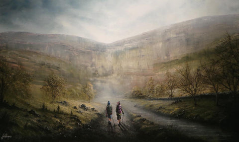 Rambling Around Malham Original by Danny Abrahams *SOLD*