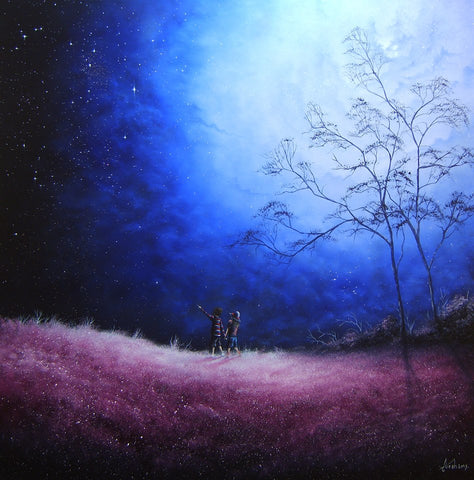The Most Beautiful Star In The Sky Original by Danny Abrahams *SOLD*