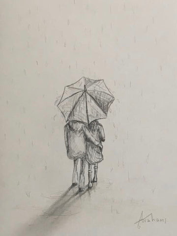 The Rain (Study) Original by Danny Abrahams *NEW*