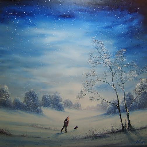 Trudging Through The Snow Original by Danny Abrahams *SOLD*