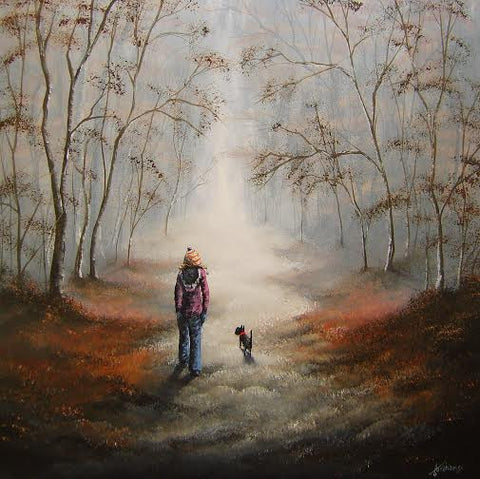 Trusty Companion Original by Danny Abrahams *SOLD*