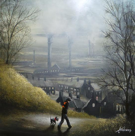 Walkies Before Work Original by Danny Abrahams *SOLD*