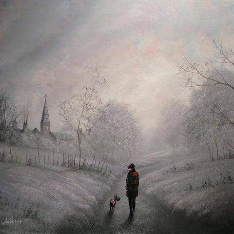 Winter Walkies Original by Danny Abrahams *SOLD*