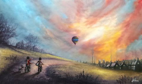 Wow! I Bet They Can See For Miles? Original by Danny Abrahams *SOLD*