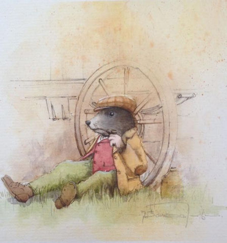 Moley - Time For A Puff (Wind in the Willows) Original by Dale Bowen