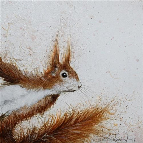 Old Red (Squirrel) Original by Dale Bowen *SOLD*