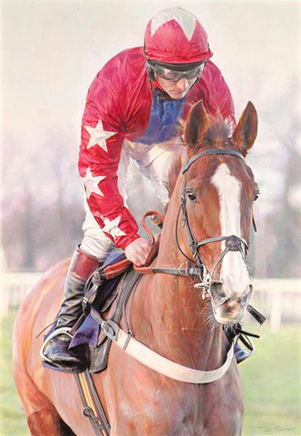 Sire De Grugy Original by Denise Finney *NEW*-Original Art-The Acorn Gallery-Denise-Finney-equine-artist-beautiful-paintings-of-horses-The Acorn Gallery