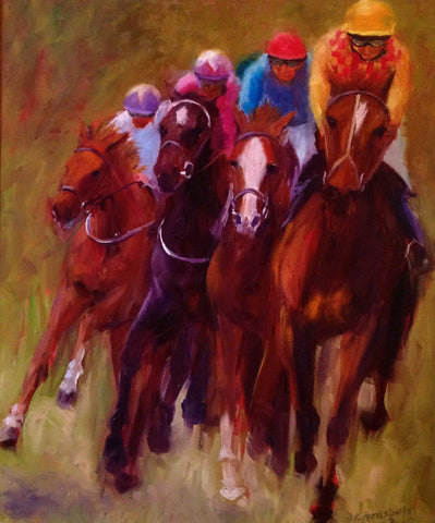 The Final Turn Original by Doreen Greenshields *SOLD*