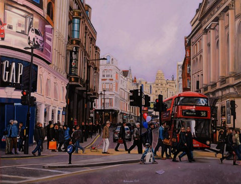 Piccadilly Now Canvas by Daniel Robinson Ford