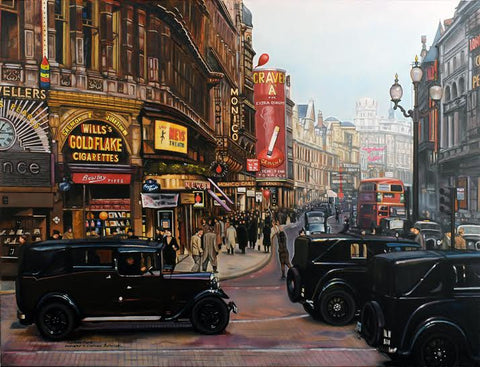 Piccadilly's Gold by Daniel Robinson Ford-Limited Edition Print-The Acorn Gallery-Dan-Daniel-Robinson-Ford-artist-The Acorn Gallery