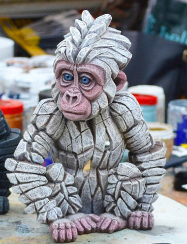 Snowflake Baby Gorilla by Edge Sculpture *NEW*