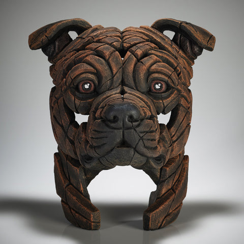 Staffordshire Bull Terrier (Brindle Staffy) by Edge Sculpture