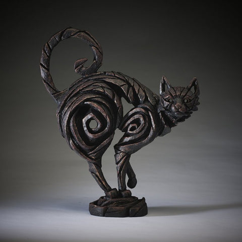 Cat - Black by Edge Sculpture