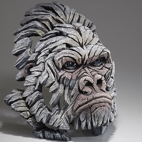 Gorilla - White by Edge Sculpture