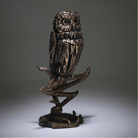 Owl - Golden by Edge Sculpture