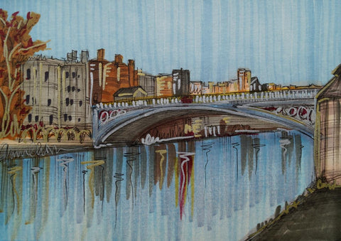 Lendal Bridge Original Sketch by Edward Waite *SOLD*