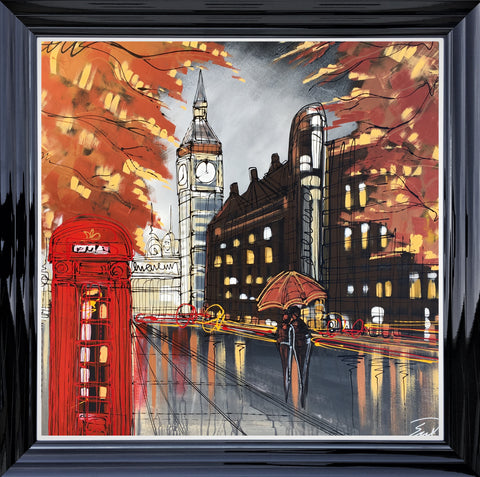 Autumn Walk To Westminster Original by Edward Waite *SOLD*