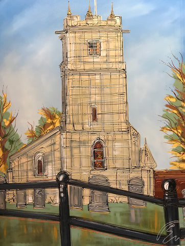 All Saints Church Original by Edward Waite *SOLD*