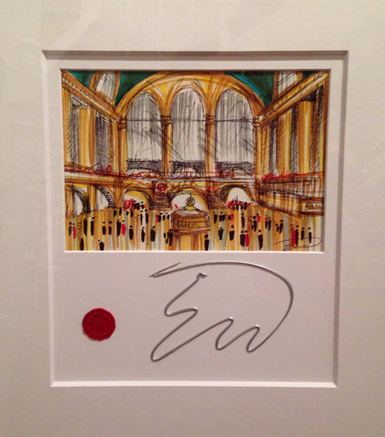 Grand Central Station Original Sketch by Edward Waite *SOLD*