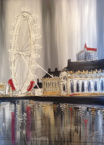 London Eye Aquarium Original by Edward Waite *SOLD*