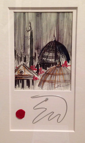 London Rooftops Original Sketch by Edward Waite *SOLD*