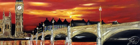 London Sunset Original by Edward Waite *SOLD*