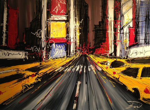 New York Rush Hour 5 Original by Edward Waite *SOLD*