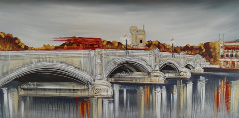 Putney Bridge Original by Edward Waite *SOLD*