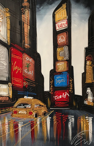 The Golden Cab Original by Edward Waite *SOLD*