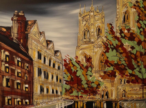 Through The Trees York Minster Original by Edward Waite *SOLD*