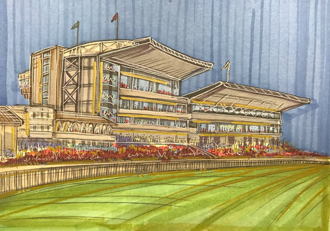 York Racecourse Original Sketch by Edward Waite