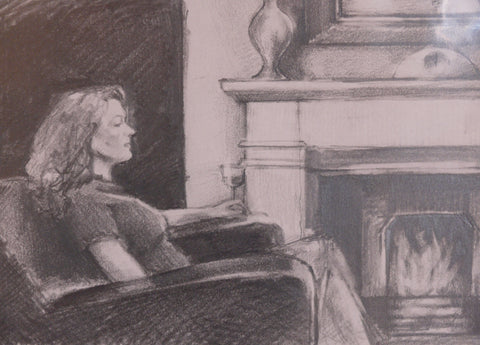Fireside Original Sketch by Kevin Day *SOLD*