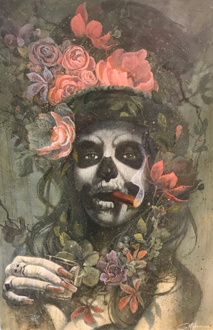 La Calaca (Day Of The Dead) Original by Gary McNamara *SOLD*-Limited Edition Print-Gary-MacNamara-artist-The Acorn Gallery