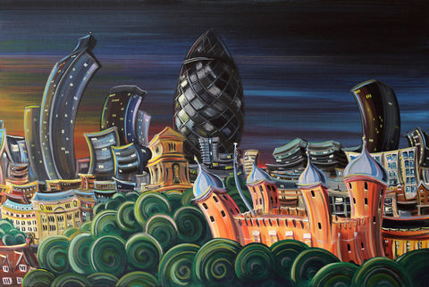 Off With The Gherkin by Rayford-Limited Edition Print-The Acorn Gallery-Rayford-artist-The Acorn Gallery