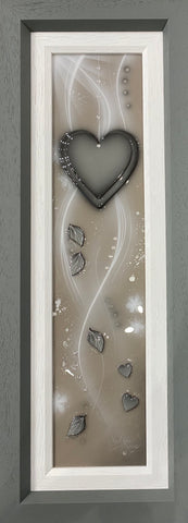 Grey Heart Original by Kealey Farmer *SOLD*-Original Art-The Acorn Gallery-Kealey-Farmer-artist-The Acorn Gallery