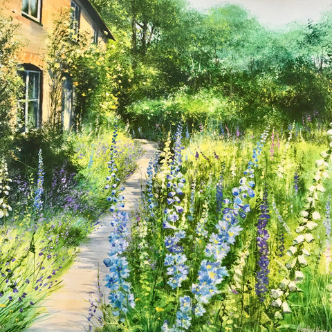 Delphinium Cottage by Heather Howe