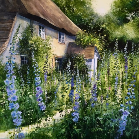 Evening Blues Original by Heather Howe *SOLD*