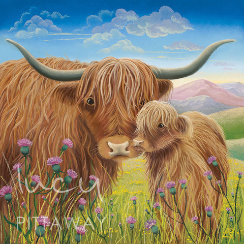 Heather And Thistle by Lucy Pittaway
