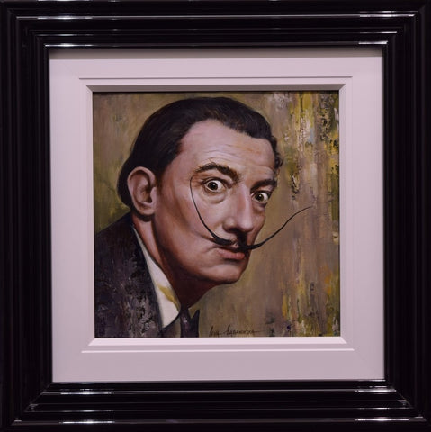 Salvador Dali Original Painting by Ieva Baranovska *NEW*