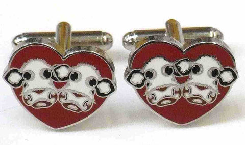 I Love Moo Cufflinks by Caroline Shotton