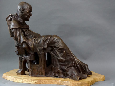 Contemplation (Sleeping Monk) Bronze Sculpture by Joseph Hayton