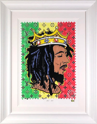 Get Up - Stand Up (Bob Marley) Music Icon Stamp by JJ Adams *NEW*
