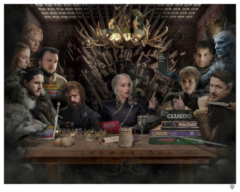 Board - Game Of Thrones Colour by JJ Adams